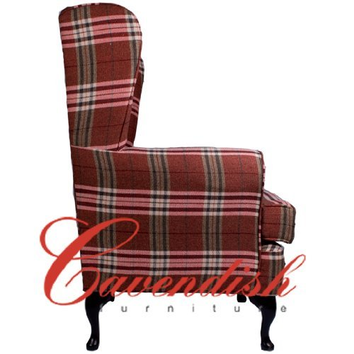 21 Seat Height Balmoral Red Tartan. Luxury Orthopedic High Seat Chairs in 21 or 19 Seat Heights Extra Wide 21 Seat width