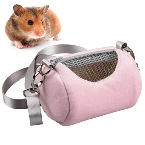 Legendog Hamster Bag, Small Animals Bag Breathable Portable Pet Travel Carrier with Shoulder Strap