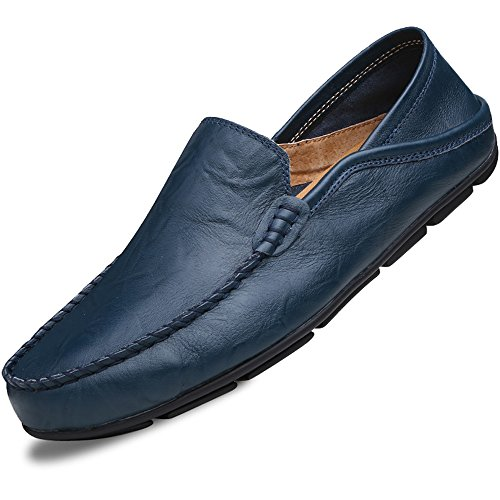 Lapens Men's Driving Shoes Premium Genuine Leather Fashion Slipper Casual (Quality Leather Shoes)