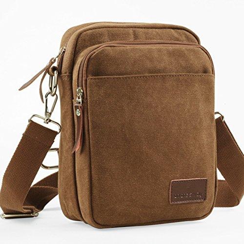 Bolsas de tela de doble uso/Bolso de pecho al aire libre de los hombres/Bolsos de hombro paquete diagonal-marrón 1 marrón 1