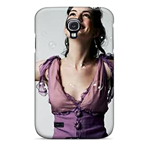 DaimiMall Premium Protective Hard Case For Galaxy S4- Nice Design - Anne Hathaway Hd Widescreen