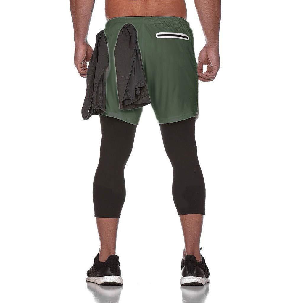 FRAUIT Leggings Uomo Palestra 3//4 Jogging Running Pantaloncini Ragazzo Sportivi con Tasche Leggins Uomini Compressione con Asciugatura Rapida e Traspirante Pantaloncino Sport Pantalone Sportivo