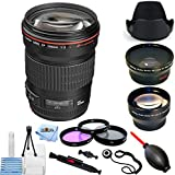 Canon EF 135mm f/2L USM Lens With Wide Angle and Telephoto Lens, Tulip Lens Hood, Filter Kit + Much More #2520A004 (Pro Bundle) [International Version]