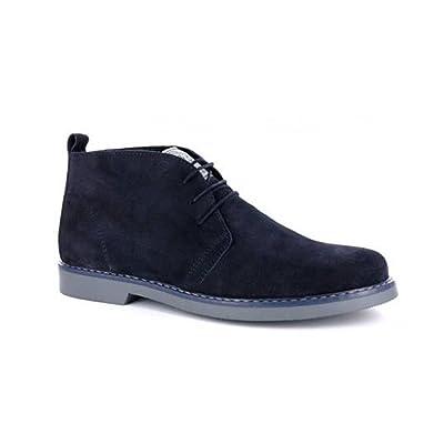 100% MADE IN ITALY - Botas de Piel para hombre Azul azul