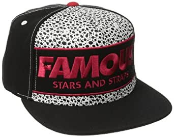Famous Stars and Straps Men's Speck Snapback Hat, Black, One Size