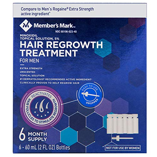 Minoxidil 5%, 6 Months Supply, Extra Strength Hair Loss Regr