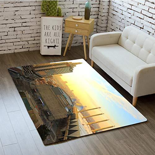 MTSJTliangwan 3D Printing Kansas City Missouri New Year 2017 Bathroom Carpet Flannel Foam Shower mat Absorbent Living Room Kitchen Door Carpet Floor - Carpet Tiles City Kansas