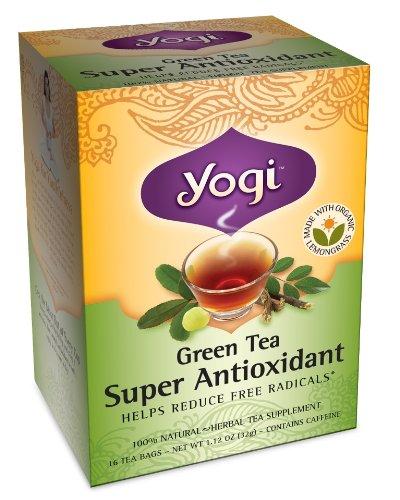 Yogi super antioxydant du thé vert, 16 sachets de thé (pack de 6)