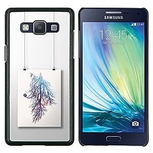 Pintura rama de árbol colorido- Metal de aluminio y de plástico duro Caja del teléfono - Negro - Samsung Galaxy A5 / SM-A500