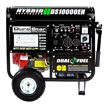DuroStar 10000 Watt Hybrid Dual Fuel Portable Gas Propane Generator - RV Standby