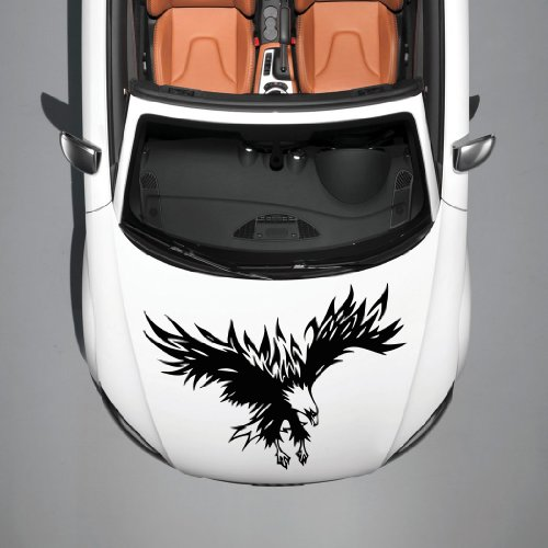 Vinyl Decals for Car Hood Animal Flaming Tribal Eagle Bird Wings Sticker Art Any Vehicle Window Graphics Mural (4911)