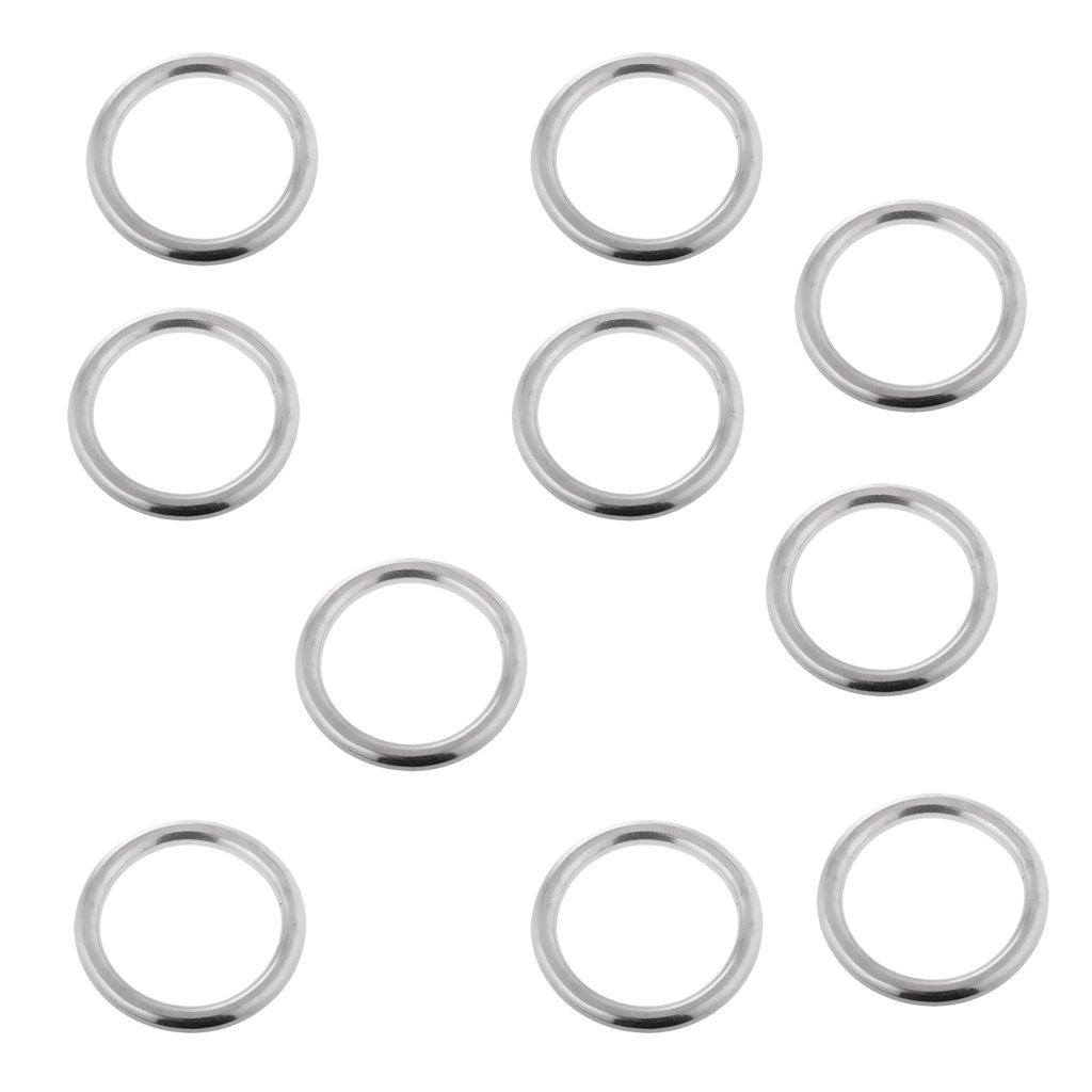 Boucle En M/étal 25mm Diam/ètre 30mm PETSOLA 10x Joints Toriques En Acier Inoxydable Pour Soudure Sans Soudure