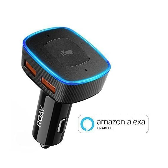 Roav-VIVA-by-Anker-Alexa-Enabled-2-Port-USB-Car-Charger-for-In-Car-Navigation-Hands-Free-Calling-and-Music-Streaming-iPhone-Users-Update-to-the-latest-iOS-114