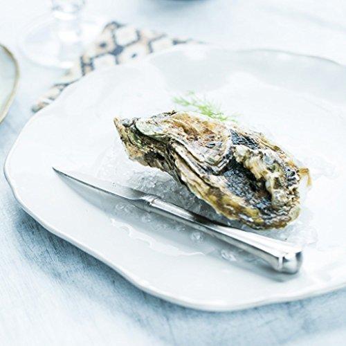 He Xiang Ya Shop Ceramic fruit salad dish plate irregular dessert plate flat plate restaurant steak dish pasta dish plate by He Xiang Ya Shop (Image #1)