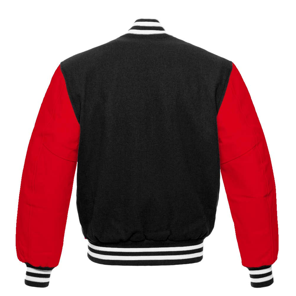 Mens Varsity Letterman Real Leather//Wool Letterman Jacket Difference Color Options