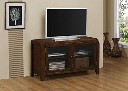 Monarch Specialties Veneer TV Console, 48-Inch, Brown Oak
