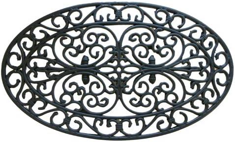 Rubber-Cal Verona Outdoor Decorative Rubber Cast Iron Doormat, 18 by 30-Inch