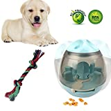 Leber Dog Toys Treat Ball and Dog Chew Rope - Increases IQ Mental Stimulation Interactive Food Dispensing Ball…