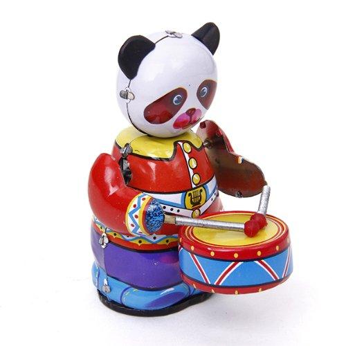 MagiDeal Jouets M/écaniques Anciens Robot Panda M/étallique Collection Cadeau Enfant