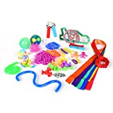 yo yo starter kit - 24 Sensory Toys Jumbo Pack by Mr. E=mc2   Child and Adult Stress Relief Toys, Fidget Toys for Kids   Autism, ADHD, Behavior, Therapy, Oral   Chewelry, Rainbow Magic Ball, Squishy Toys, Stress Relief