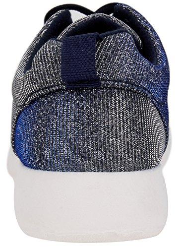 Bleu Baskets Ultra 7900x Brillant Oodji Tissu Femme En qvwSz