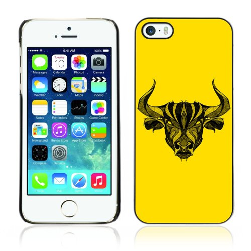 Designer Depo Hard Protection Case for Apple iPhone 5 5S / Cool Tattoo Bull