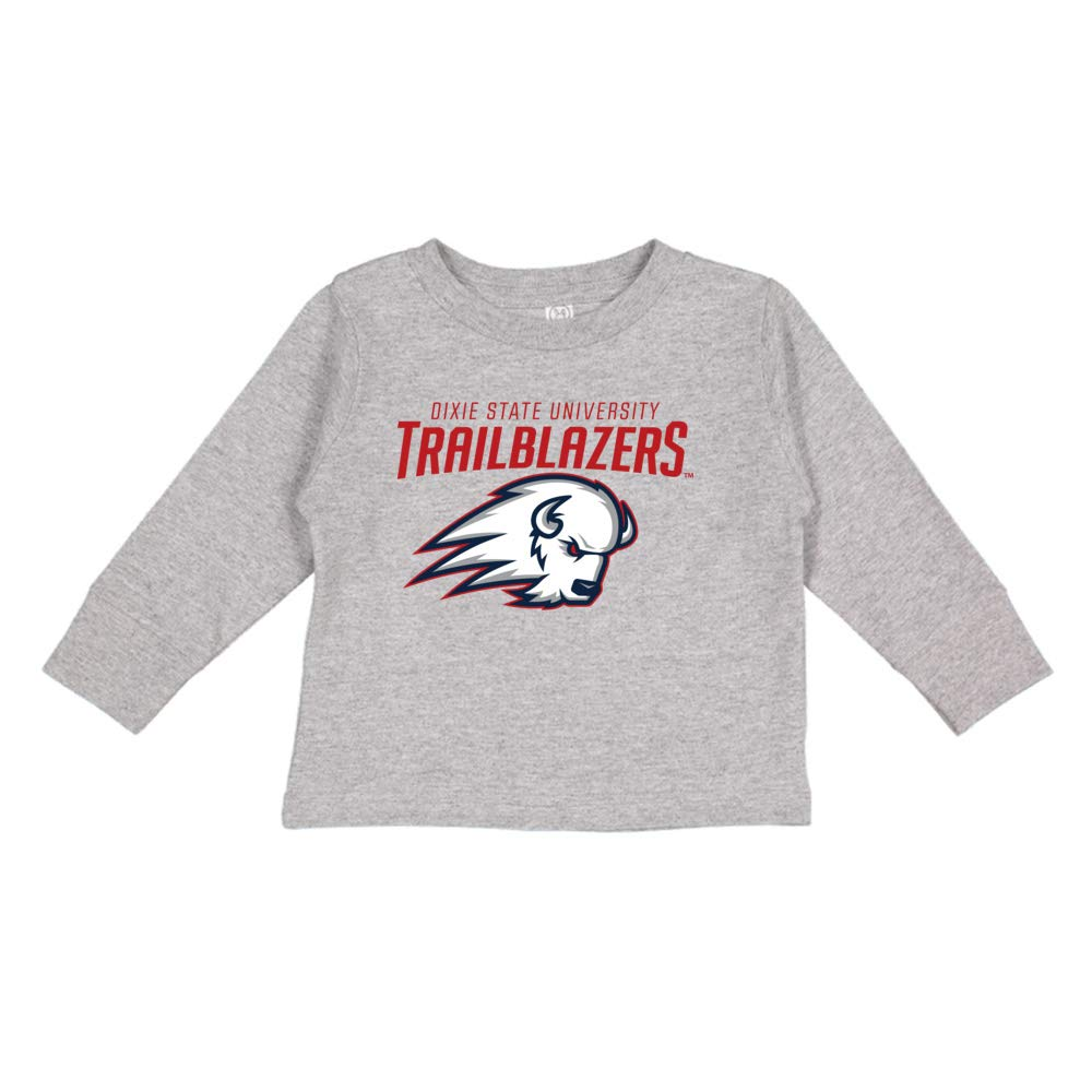 NCAA Dixie State Trailblazers PPDIX09 Toddler Long-Sleeve T-Shirt
