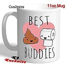 By Cus2mize Novelty Mug Funny Mugs 11oz Coffee Tea Mug Love You Mug Funny Gifts Humor Mug Gifts For Boyfriend Rude Funny Gift For Office Mug Friend Funny Poop Poo Emoji Mug Best Buddies