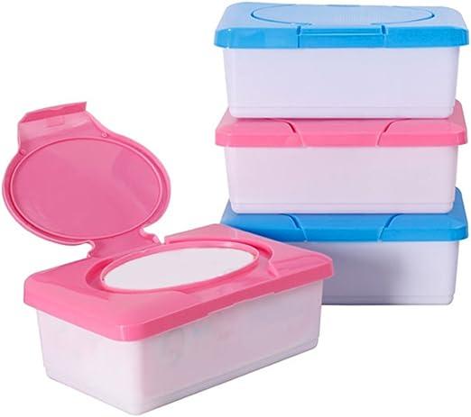 Ainstsk - Caja portátil de pañuelos húmedos, caja de pañales de ...
