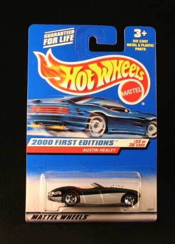 AUSTIN HEALEY * BLACK * 2000 FIRST EDITIONS SERIES #32 of 36 HOT WHEELS Basic Car 1:64 Scale Series * Collector #092 *
