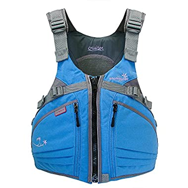 Stohlquist Women's Cruiser Life Jacket/Personal Floatation Device (Powder Blue/Gray, X-Small/Small)