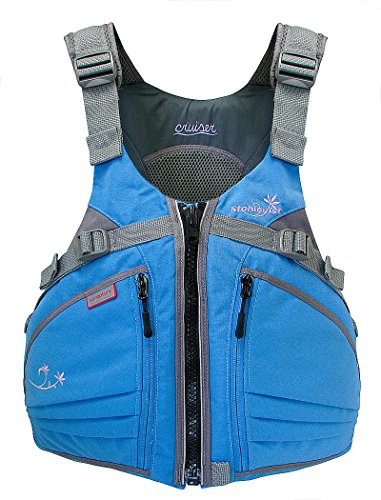 Stohlquist Women's Cruiser Life Jacket/Personal Floatation Device (Powder Blue/Gray, X-Small/Small) (Small Cruiser)