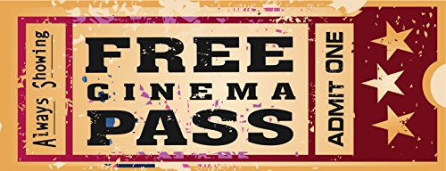 Welcome to Our Home Theatre Metal Sign Retro Ticket to