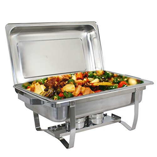 Super Deal Stainless Steel 2 Pack 8 Qt Chafer Dish w/Legs Complete, 2 Pack (#1) by SUPER DEAL (Image #5)