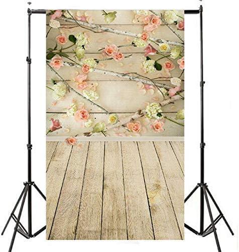3x5ft Vinyl Wooden Floor Flower Backdrops Photography Studio Props Background