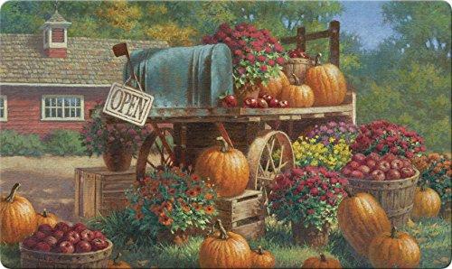 Toland Home Garden Farm Pumpkin 18 x 30 Inch Decorative Fall Harvest Floor Mat Autumn Pumpkin Doormat