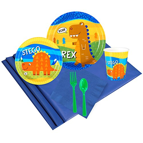 T-Rex Childrens Birthday Party Supplies - Tableware Party Pack (24)