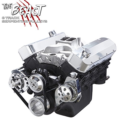 Chevy Big Bock Serpentine Kit - Alternator & Power Steering Applications (Chevy Aluminum Pulley)