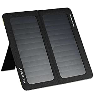 ECEEN 13W 2-Port USB Universal Foldable Solar Charger, Black