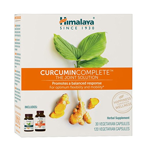 Himalaya Curcumin Complete with Turmeric and Curcumin for Joint Support and Joint Mobility, 1200 mg JointCare, 600 mg Turmeric 95TM, 1 Month Supply, 60 Capsules Each