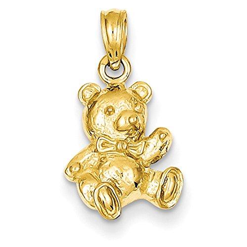 - Lex & Lu 14k Yellow Gold Teddy Bear Charm-Prime