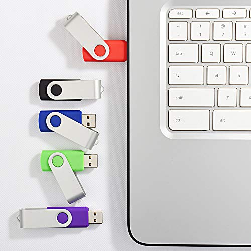 KOOTION 5 X 32GB USB 3.0 Flash Drives Memory Stick 3.0 Thumb Drives Pen Drives (Mixcolors: Black Blue Green Purple Red) by KOOTION (Image #2)