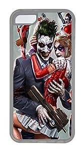iPhone 5C Case Joker and Harley Quinn TPU iPhone 5C Case Cover Transparent