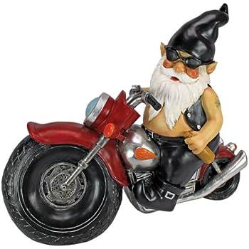 Genial Garden Gnome Statue   Axle Grease The Biker Gnome   Wild Gnome Statues    Gnome On