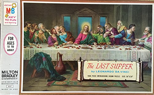 The Last Supper 1000 piece Jigsaw Puzzle Milton Bradley 26