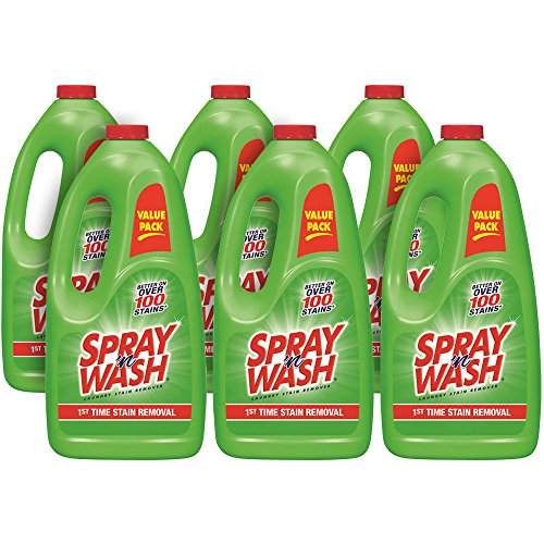 Spray 'n Wash Pre-Treat Laundry Stain Remover Refill, 360 fl oz (6 Bottles x 60 oz) - Stain Removal Silk