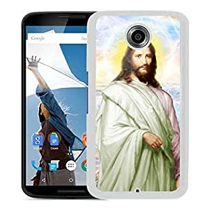 New Fashion Custom Designed Cover Case For Google Nexus 6 With jesus christ 1 White Phone Case