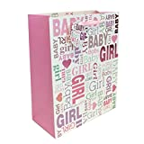2 pc Baby Shower & Birthday Premium Large Gift bags for Baby Girl