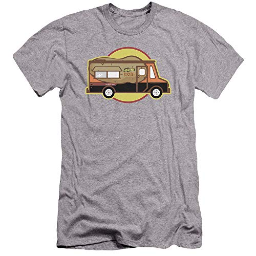 Impractical Jokers Scoopski Potatoes Truck Unisex Adult Canvas Brand T Shirt for Men and Women, Small Athletic Heather