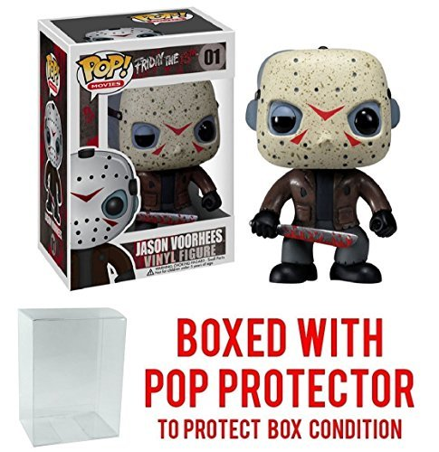 Funko Pop! Movies: Friday the 13th - Jason Voorhees Vinyl Figure (Bundled with Pop BOX PROTECTOR CASE) ()